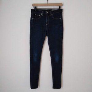 Rag & Bone Dark wahs High Rise Skinny Jeans